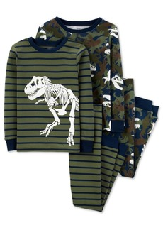 Carter's Little & Big Boys 4-Pc. Cotton Dinosaurs Pajamas Set