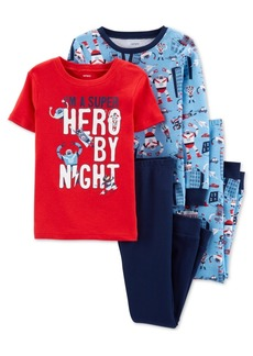 Carter's Little & Big Boys 4-Pc. Cotton Robot Pajama Set