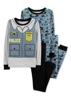Carter's Little & Big Boys 4-Pc. Police Cotton Pajama Set