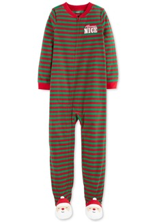 Carter's Little & Big Boys Always Nice Footed Santa Pajamas