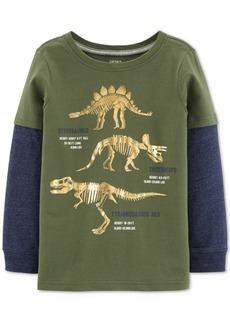 Carter's Little & Big Boys Dinosaur-Print Layered-Look T-Shirt