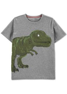 Carter's Little & Big Boys Dinosaur-Print Zip Cotton T-Shirt