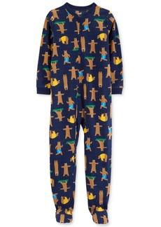 Carter's Little & Big Boys Fleece Bear-Print Pajamas