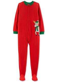 Carter's Little & Big Boys Footed Reindeer Fleece Pajamas