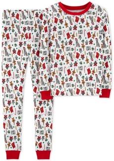 Carter's Little & Big Boys Holiday-Print Cotton Pajamas