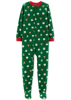 Carter's Little & Big Boys Holiday-Print Footed Pajamas