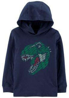 Carter's Little & Big Boys Hooded Dinosaur Cotton T-Shirt