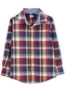 Carter's Little & Big Boys Plaid Button-Front Cotton Shirt
