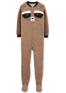 Carter's Little & Big Boys Raccoon-Face Footed Pajamas