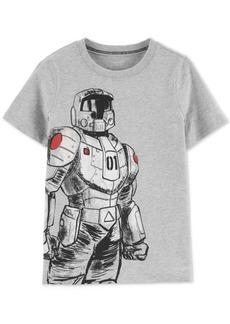 Carter's Little & Big Boys Robot-Print Glow-In-The-Dark Cotton T-Shirt
