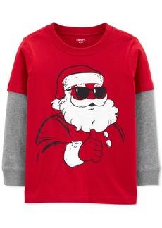 Carter's Little & Big Boys Santa-Print Layered-Look Cotton T-Shirt