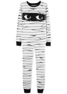 Carter's Little & Big Boys Snug-Fit Cotton Glow In The Dark Mummy Pajamas