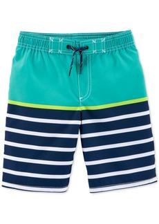 Carter's Little & Big Boys Striped Swim Trunks
