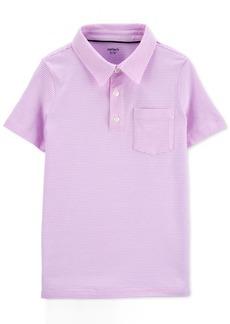 Carter's Little & Big Boys Striped Textured Cotton Polo Shirt
