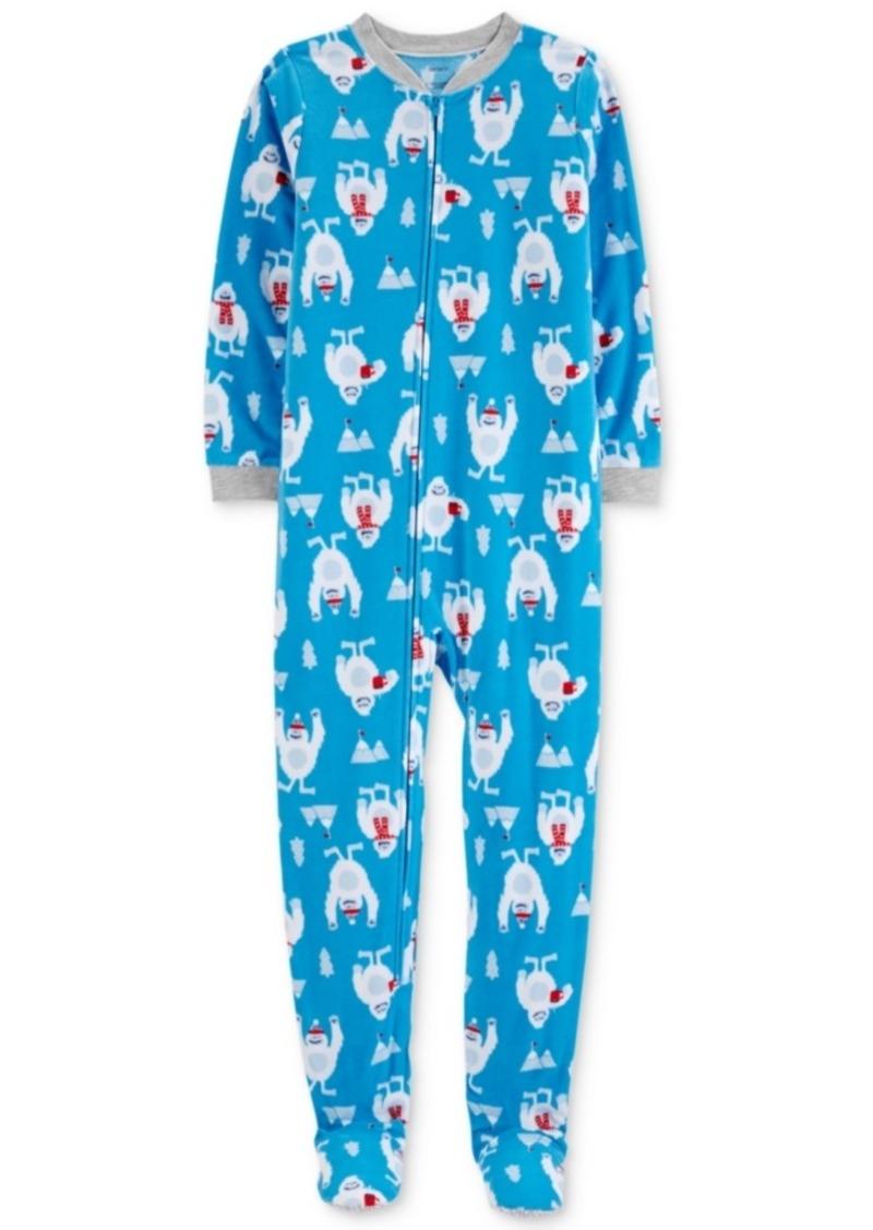 Carter s Carter s Little   Big Boys Yeti-Print Fleece Pajamas d483697cf