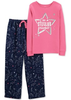 Carter's Little & Big Girls 2-Pc. Constellation Pajama Set