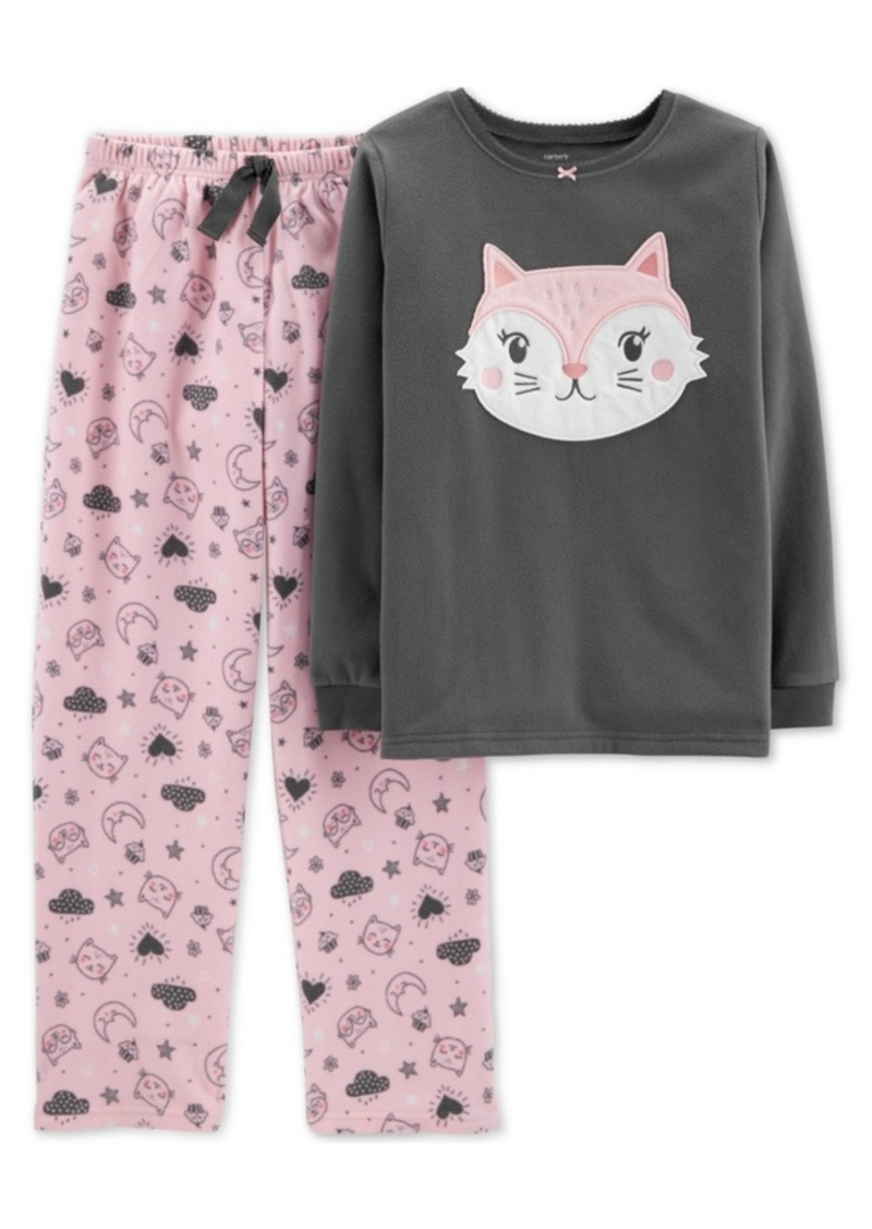 1038362e1 Carter's Carter's Little & Big Girls 2-Pc. Fleece Cat Pajamas Set ...