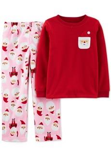 Carter's Little & Big Girls 2-Pc. Fleece Santa Pajamas Set