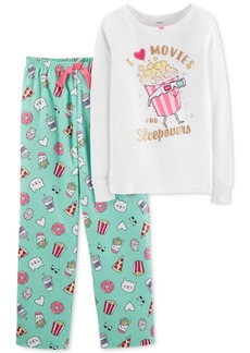 Carter's Little & Big Girls 2-Pc. I Love Popcorn Pajamas Set