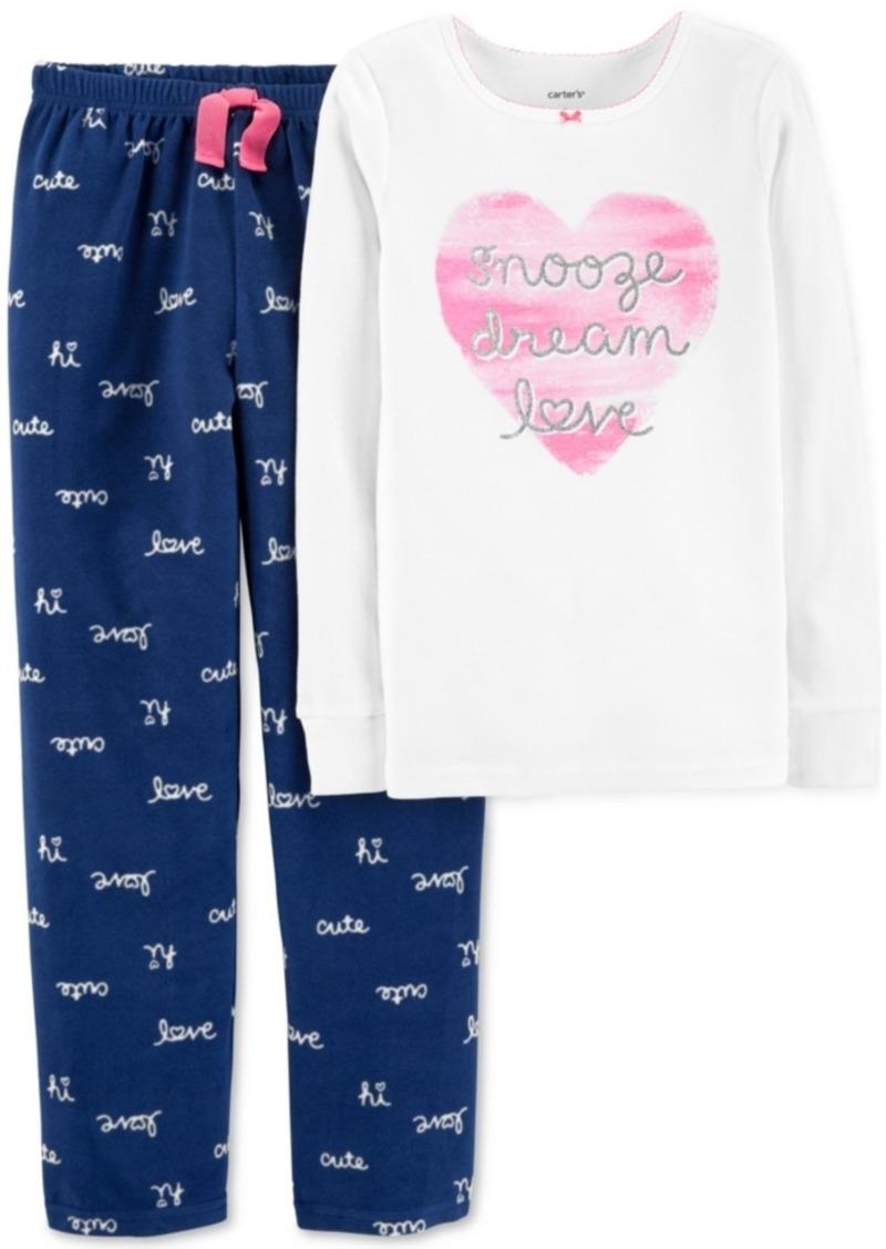 3cc728e40ea0 Carter s Carter s Little   Big Girls 2-Pc. Pajamas Set