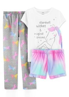 Carter's Little & Big Girls 3-Pc. Unicorn Pajamas Set