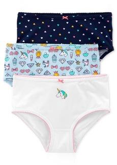 Carter's Little & Big Girls 3-Pk. Unicorns Printed Underwear