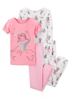 Carter's Little & Big Girls 4-Pc. Ballerina Cotton Pajama Set