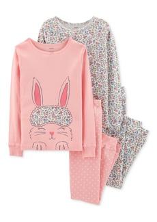 Carter's Little & Big Girls Bunny & Floral-Print Cotton Pajamas