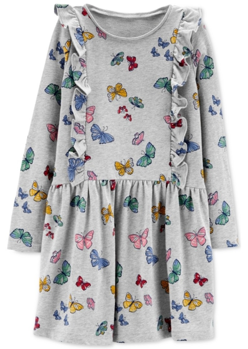 53c6d9901b Carter s Carter s Little   Big Girls Butterfly Ruffle Cotton Dress ...