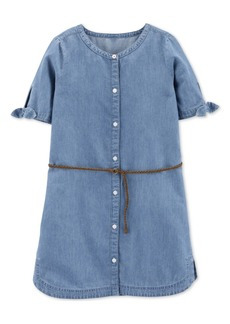 Carter's Little & Big Girls Denim Shirtdress