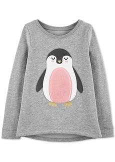 Carter's Little & Big Girls Fleece Penguin Sweatshirt