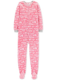 Carter's Little & Big Girls Fleeced Footed Pajamas