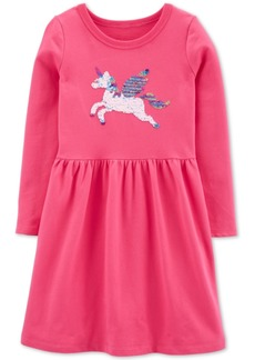 Carter's Little & Big Girls Flip Sequin Pegasus Dress