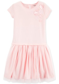 Carter's Little & Big Girls Floral Applique Dress