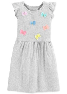 Carter's Little & Big Girls Flutter-Sleeve Bows Dress