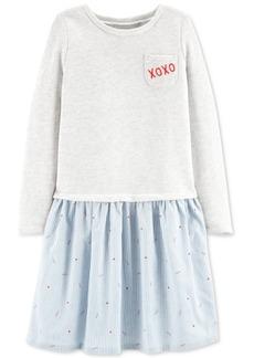 Carter's Little & Big Girls Layered-Look Mixed Media Dress