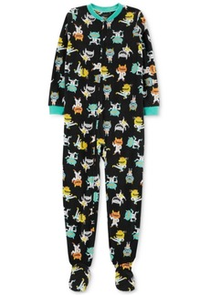 Carter's Little & Big Girls Monster-Print Fleece Footed Pajamas