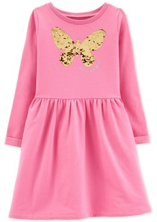 Carter's Little & Big Girls Sequin Butterfly Dress