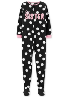 Carter's Little & Big Girls Sister Dot-Print Pajamas