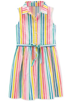 Carter's Little & Big Girls Striped Cotton Shirtdress