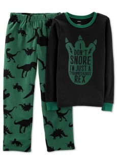 Carter's Little Boys 2-Pc. Snore T-Rex Pajama Set