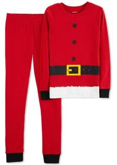 Carter's Little Boys Red Santa Suit Cotton Pajamas