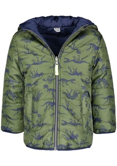 Carter's Little Boys Reversible Dinosaur-Print Hooded Jacket
