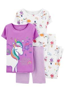 Carter's Little Girls 4-Pc. Unicorn Pajamas Set