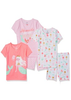 Carter's Girls' Little 5-Piece Cotton Snug-Fit Pajamas