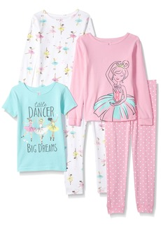 Carter's Little Girls' 5-Piece Cotton Snug-Fit Pajamas