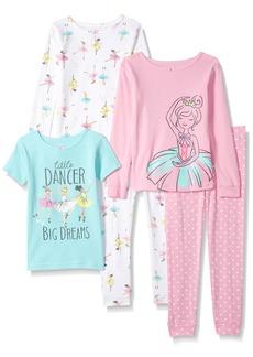 Carter's Girls 5-Piece Cotton Snug-Fit Pajamas