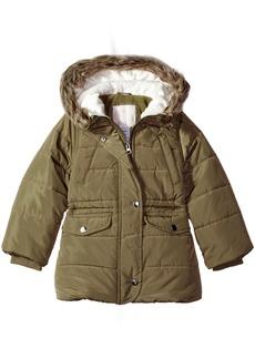 Carter's Little Girls' Cozy Hood Puffy Jacket Coat