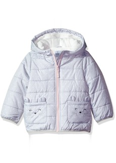 Carter's Girls' Little Fleece Lined Critter Puffer Jacket Coat