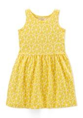 Carter's Little Girls Lemon-Print Cotton Tank Dress